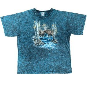 Polar Graphics Spirit Animal Blue Moose T-Shirt